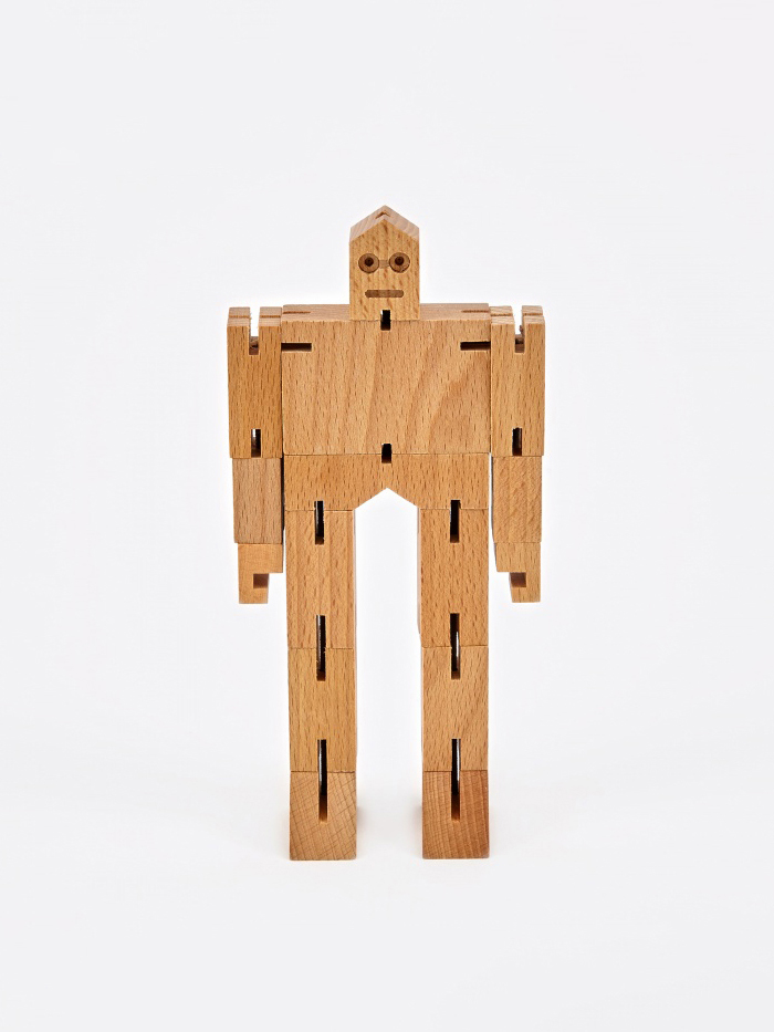 Areaware Cubebot Julien - Wood (Image 1)