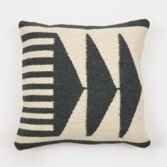 Ferm Living Kelim Cushion 50x50cm - Black Triangles