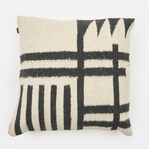 Kelim Cushion 50x50cm - Black Lines