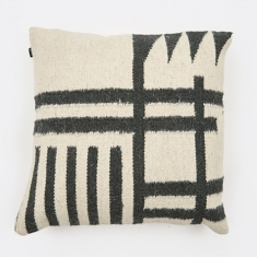 Ferm Living Kelim Cushion 50x50cm - Black Lines