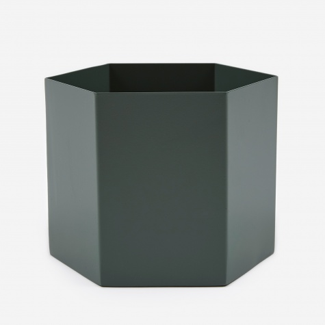 Large Hexagon Pot - Dusty Green