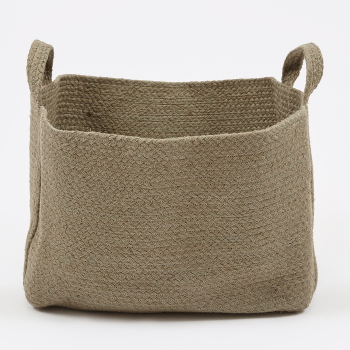 YUYU Square Basket - Green (Image 1)