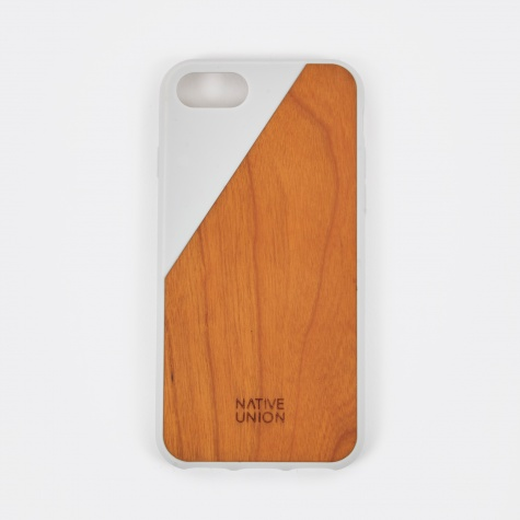 Clic Wooden iPhone 7 Case - White