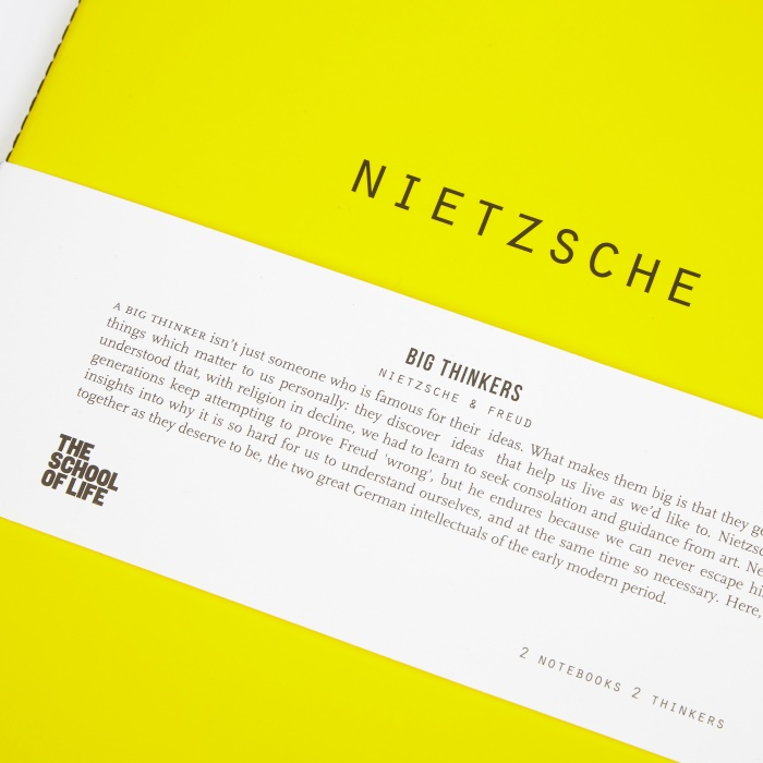The School of Life Big Thinkers Notebooks : Nietzsche & Freud (Image 1)