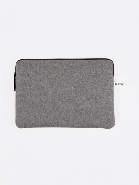 "Zip Case for Macbook Air / 13"" Laptop - Grey Flannel"