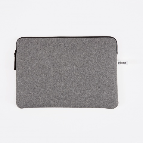"Zip Case for Macbook 13"" - Grey Flanel"
