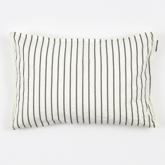 Linum Vega Cushion 40x60cm - White/Dark Grey