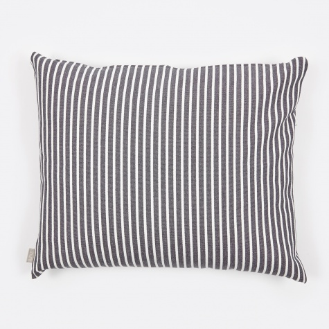 Camargue Cushion 50x60cm - Dark Grey/White