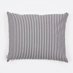 Linum Camargue Cushion 50x60cm - Dark Grey/White