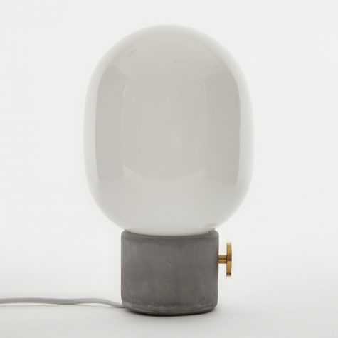 JWDA Concrete Lamp - Light Grey/Brass