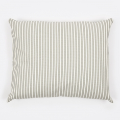 Linum Camargue Cushion 50x60cm - Light Grey/White