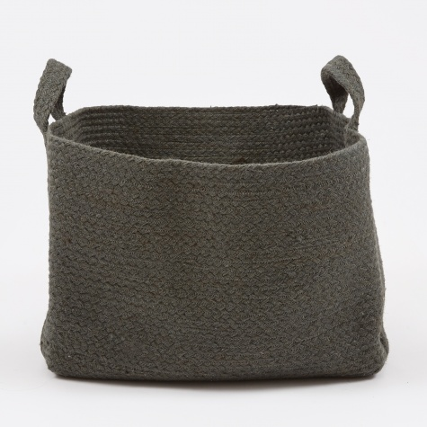 Square Basket - Charcoal