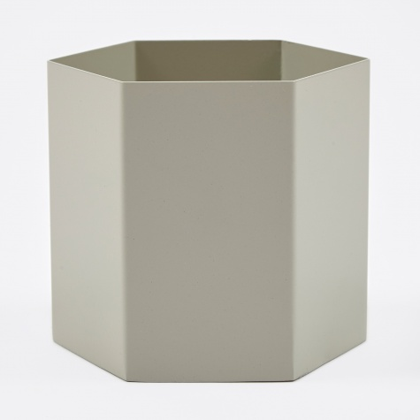 Hexagon Pot Extra Large - Light Grey