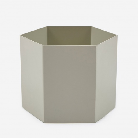 Large Hexagon Pot - Light Grey
