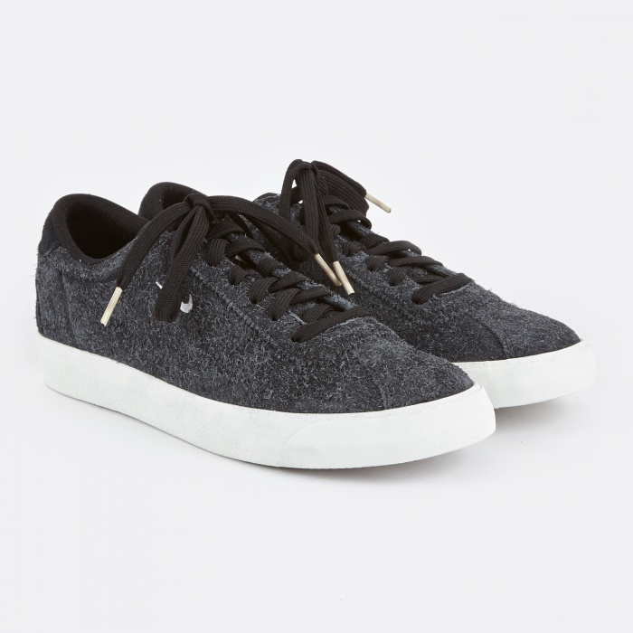 Nike Match Classic Suede Shoe - Black/Summit White (Image 1)