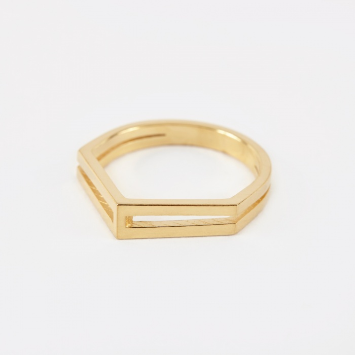 The Boyscouts GARNER DROP Ring - 18K Gold Plated (Image 1)
