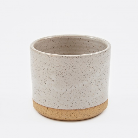 "5"" Planter - White Speckle"