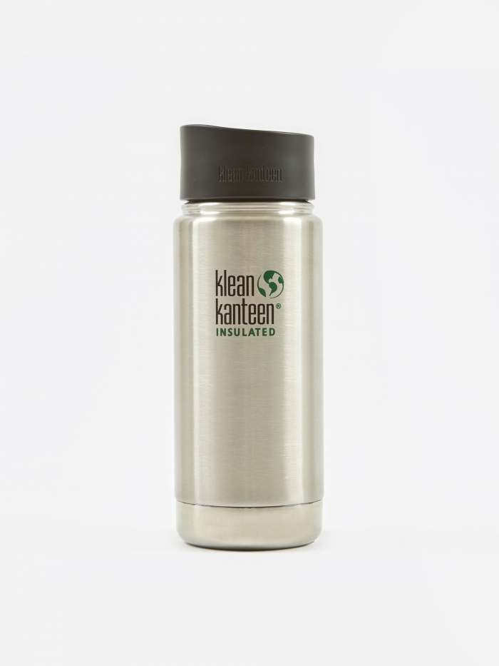 Klean Kanteen Wide Insulated With Cafe Cap 592ml - Stainless (Image 1)