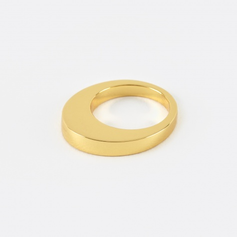 Egg Ring - 14K Yellow Gold Plated