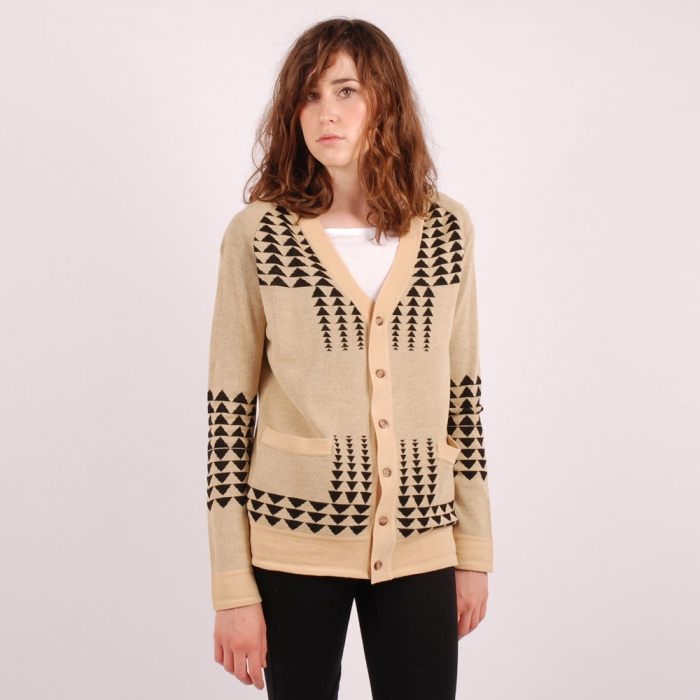 Pendleton Arrow Cardigan - Tan & Black (Image 1)