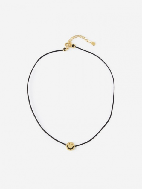 Friends Choker - Black Leather