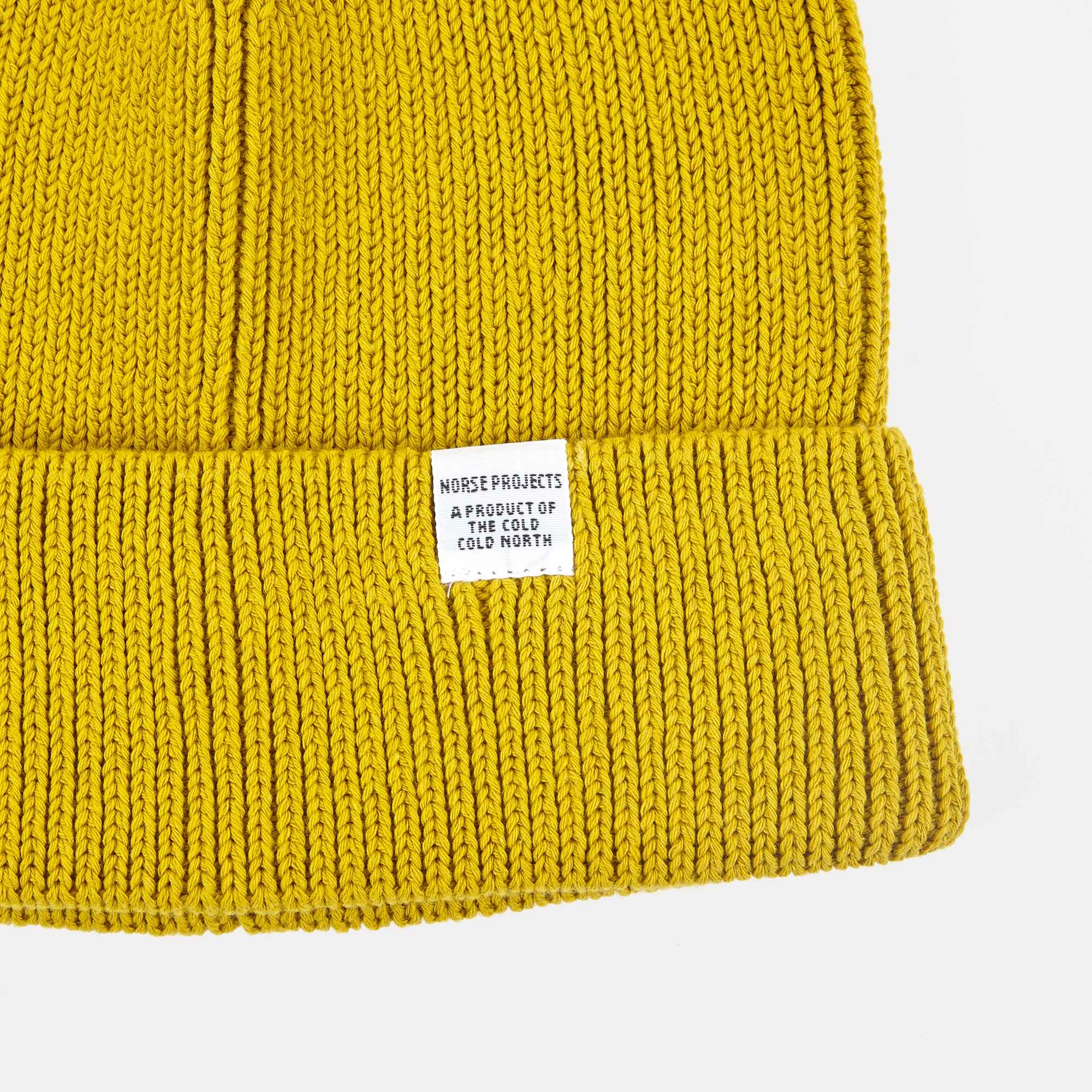 4cb6d8fcc Norse Projects Cotton Watch Beanie - Edge Yellow