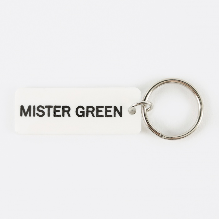 Mister Green 2 Sided Keychain - White (Image 1)