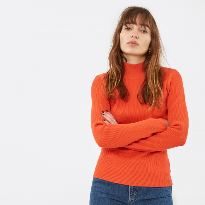Nanushka Sade Roll Neck Knit - Red (Image 1)