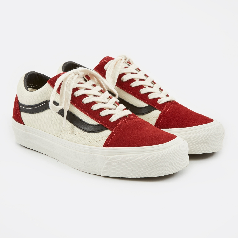 vans vault og old skool lx 'red dahlia