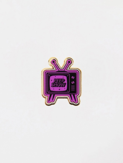 Peep Show Pin Badge - Enamel
