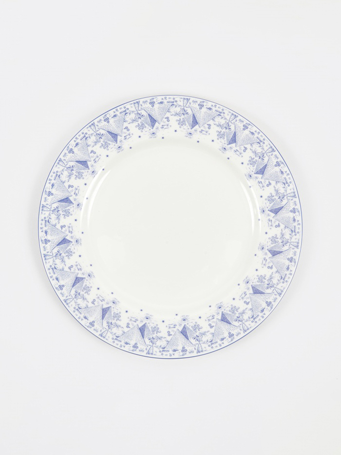 Goods By Goodhood Pyramid Plate - White/Blue (Image 1)
