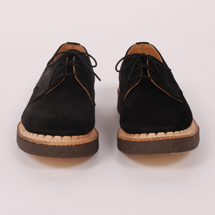 British Remains First Creeper - Black Suede (Image 1)