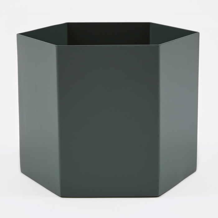 Ferm Living Hexagon Pot Extra Large - Dusty Green (Image 1)