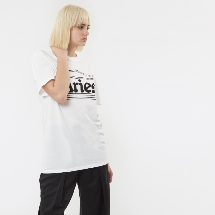 Aries Confused Temple Logo T-Shirt - White (Image 1)
