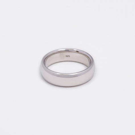 Classic Large Band Ring - Polished Silver