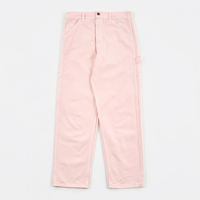 Stan Ray Single Front Painter Trousers - Pink Rose Overdye (Image 1)