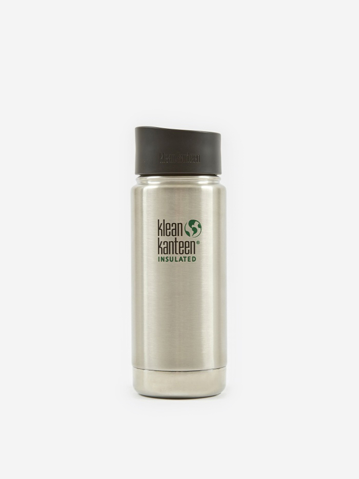 Klean Kanteen Wide Insulated With Cafe Cap 473ml - Stainless (Image 1)
