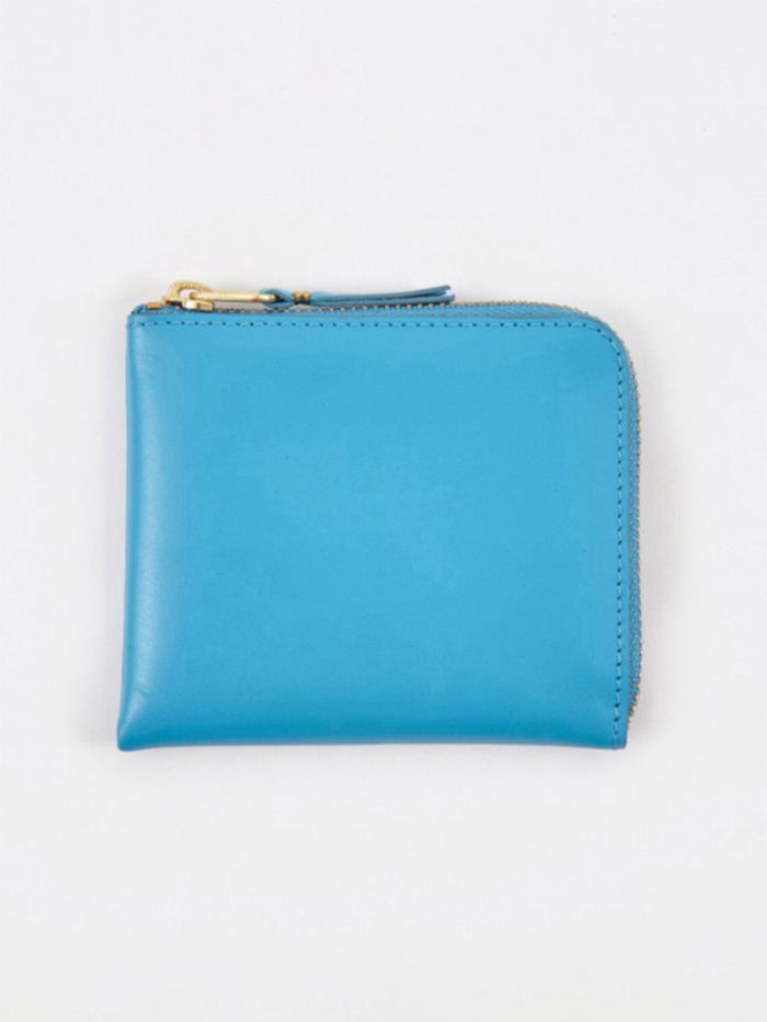 Comme des Garcons Wallets Comme des Garcons Wallet Classic Leather Line S (SA3100) - Blue (Image 1)