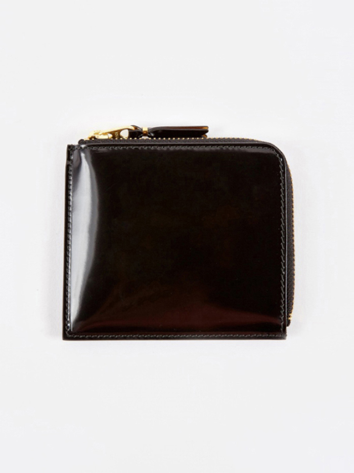 Comme des Garcons Wallets Mirror Inside S (SA3100MI) - Black/Gol (Image 1)