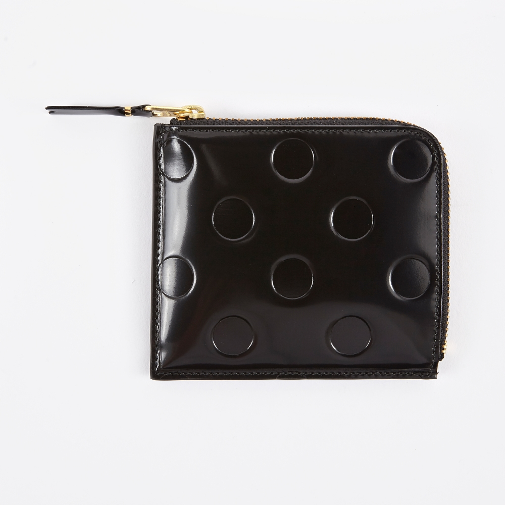 Comme des Gar?ons Polka-dot Leather Wallet Buy Cheap Prices we9n4D