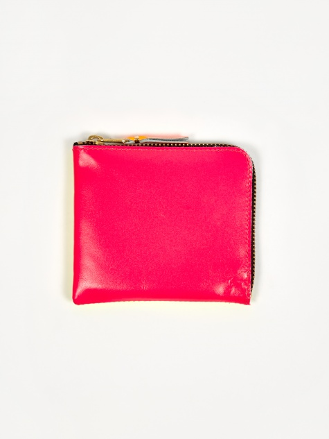 Comme des Garcons Wallet Super Fluo S (SA3100SF) - Pink/Yellow