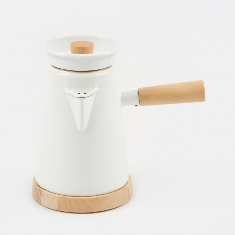 Cowboy Coffee Kettle - White Speckle