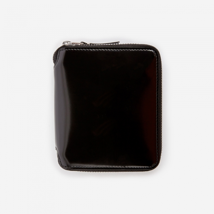 Comme des Garcons Wallets Mirror Inside M (SA2100MI) - Black/Sil (Image 1)