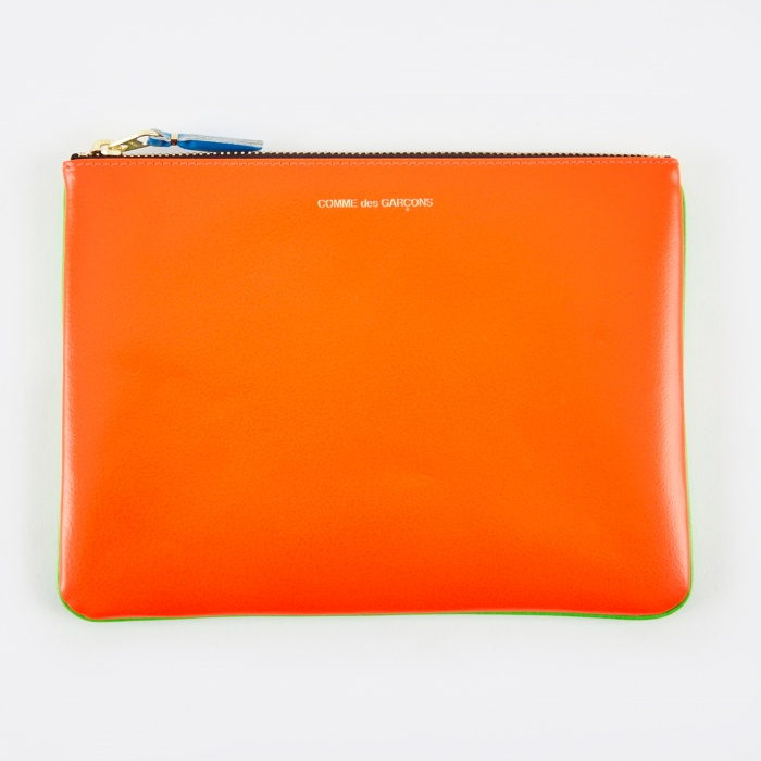 Comme des Garcons Wallets Super Fluo W (SA5100SF)  - Green/Orang (Image 1)