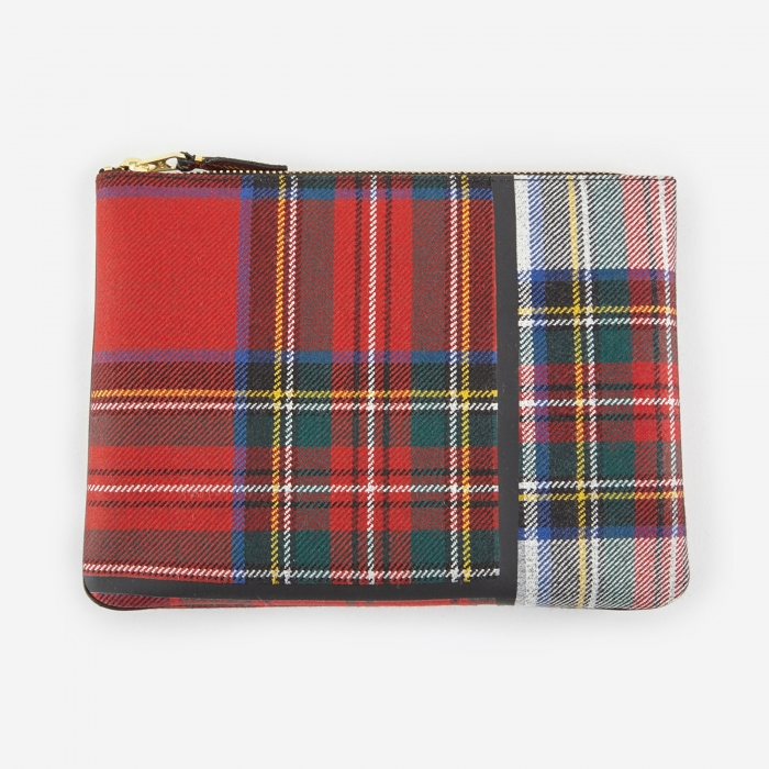 Comme des Garcons Wallets Tartan Patchwork W (SA5100TP) - Red (Image 1)