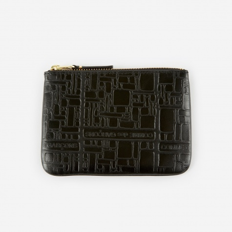 Comme des Garcons Wallet Embossed Logotype XS - Black (SA8100EL)