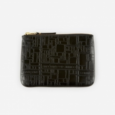 Comme des Garcons Wallets Embossed Logotype XS - Black (SA8100EL