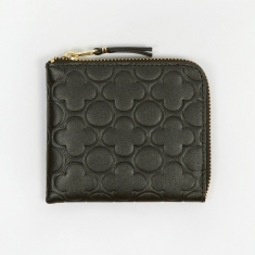 Comme Des Garcons Wallets Embossed S (SA310EB) - Black