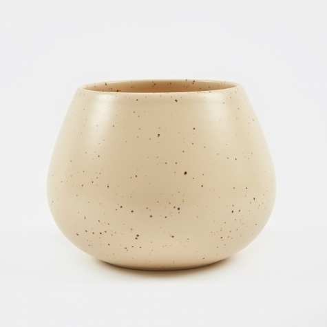 LAND Vase Low - Eggshell