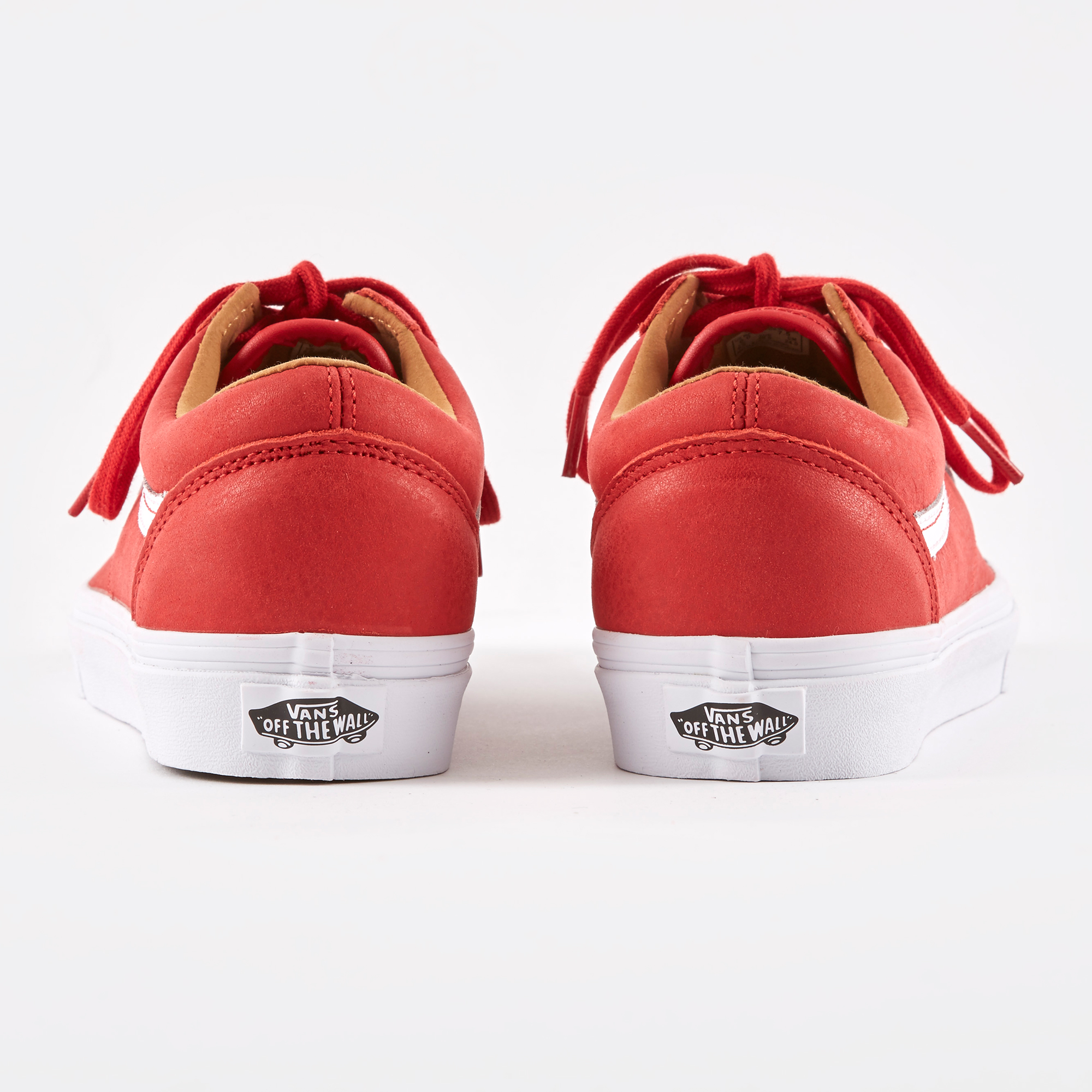 d902bd25db8b91 Vans Old Skool Premium Leather - Racing Red